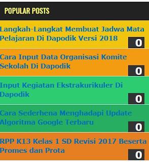 Cara membuat Populer Post