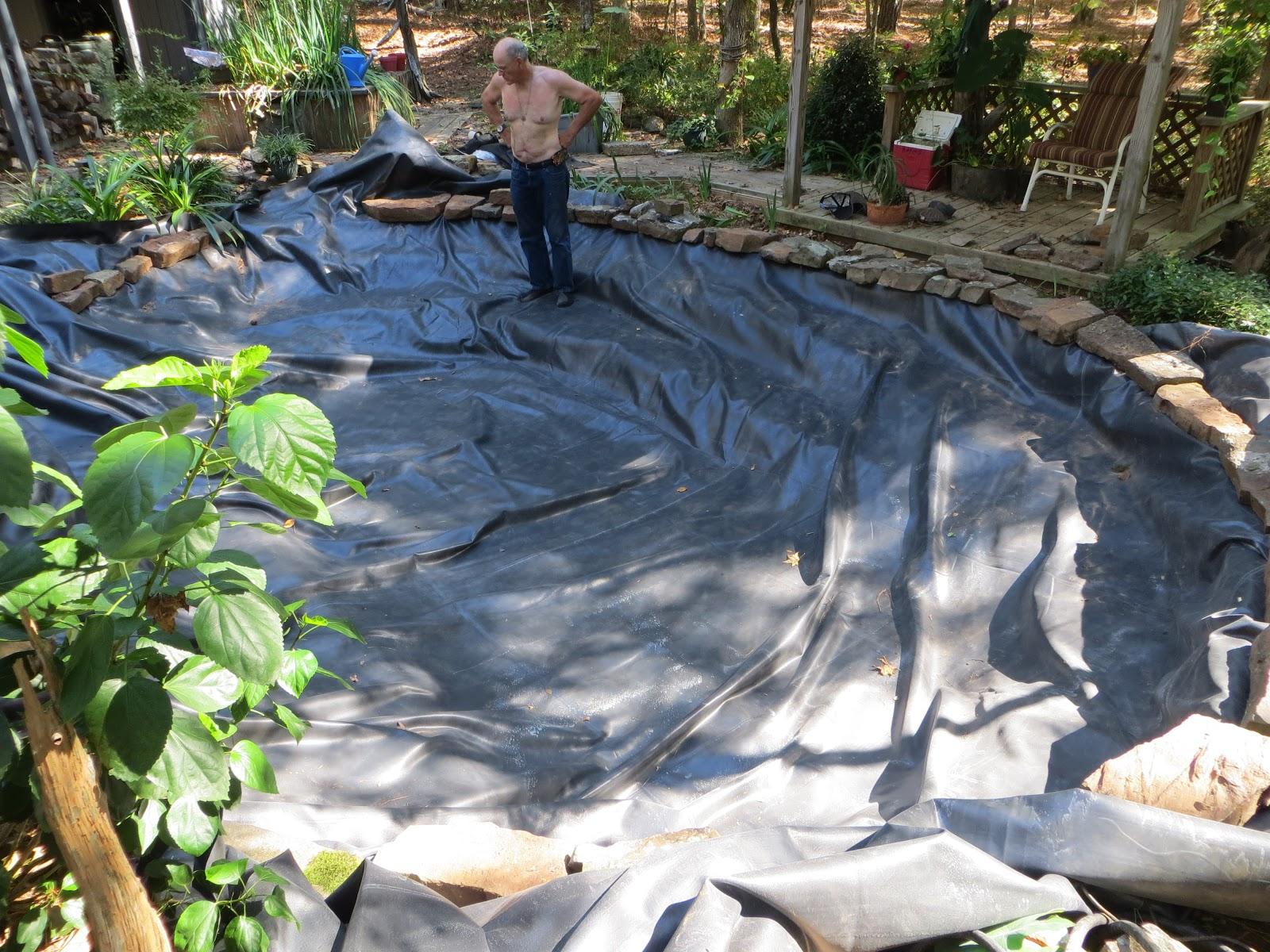 Prunepicker john 39 s koi pond new liner for Koi pool liners