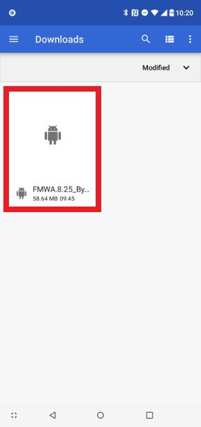 Find and open downloaded APK