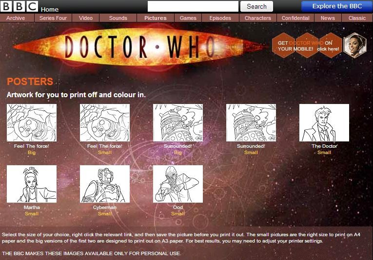 Doctor Who Coloring Book Pages