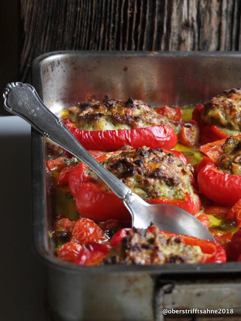 gefüllte Paprika mit Gemüse