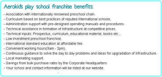 Aerokids Preschool Franchise Benefits