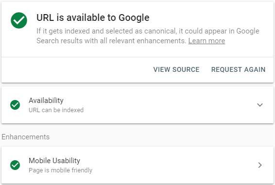 Permintaan indeks link artikel berhasil dan akan muncul di Google