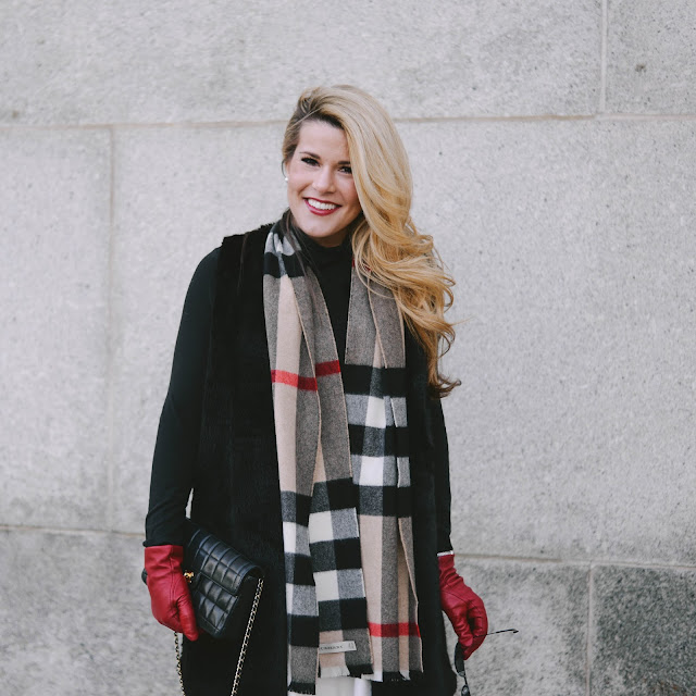 how to style a plaid burberry scarf