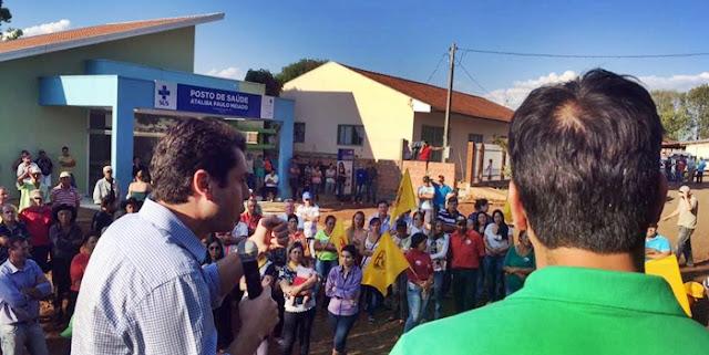 Roncador: Candidato a prefeito, Orlando, vai à Alto São João conhecer obra da atual gestão