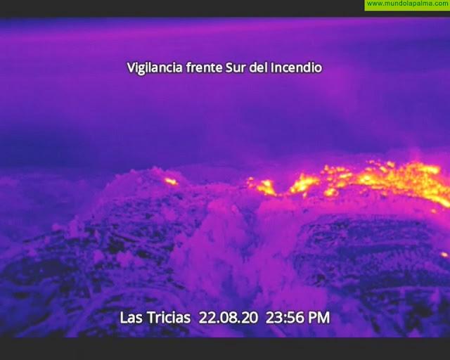 La tecnología dron en la lucha contra el incendio forestal de Garafía