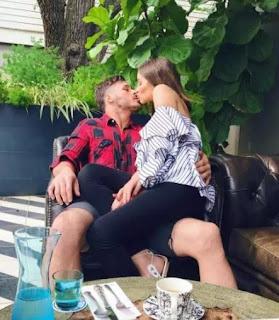Amendola Kissing His Girlfriend Culpo