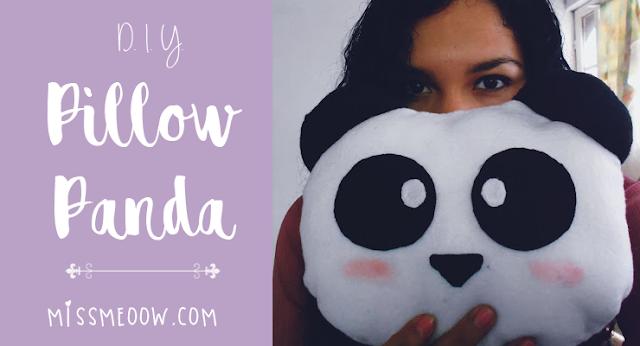 DIY: Almohada de Panda.