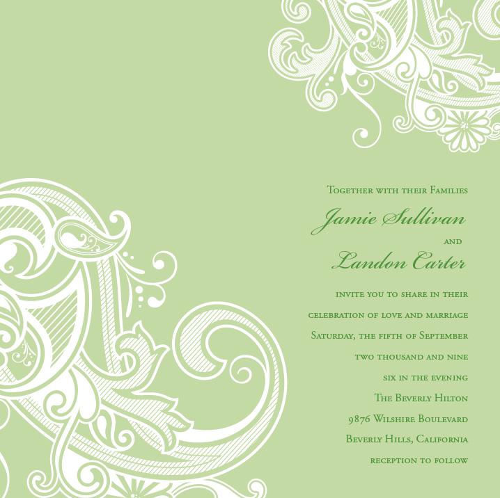 Invitation Parlour: Elegant Paisley Invitation Design