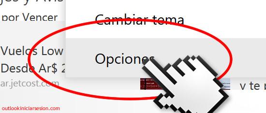 Opciones de diseño en outlook.com