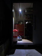 LED-125-2ヨド蔵MD物置の照明施工