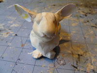 paper clay over cardstock armature