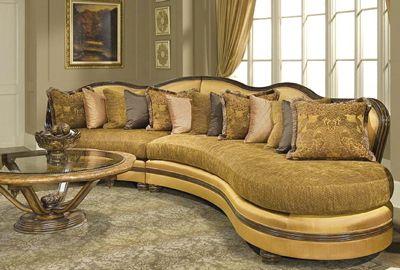 David Dangerous lautner Sofa With Gold Tweed