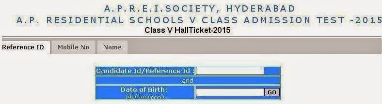AP GURUKULAM 5 class Hall ticket