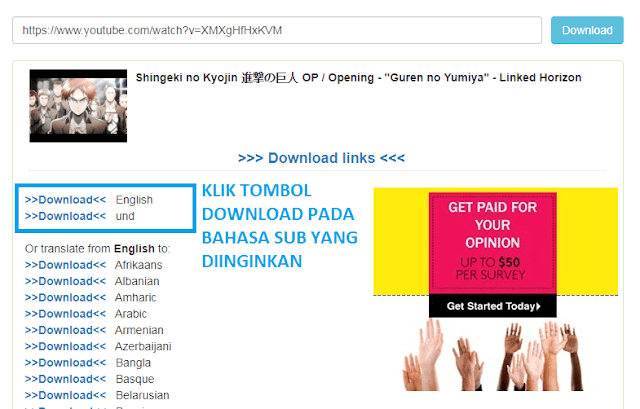 Cara Mudah Download Subtitle Video di YouTube