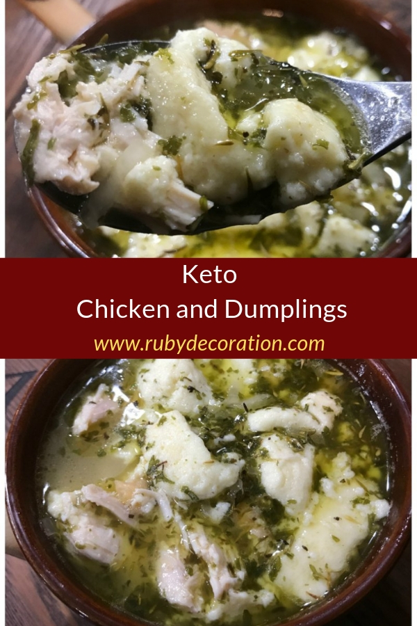Keto Chicken and Dumplings Recipe