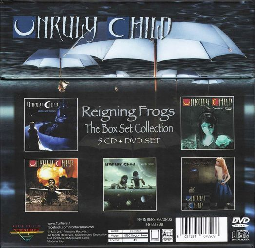 UNRULY CHILD - Reigning Frogs Box Set; CD4 Worlds Collide (2017) retail - back