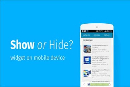 Cara Membuat Iklan atau Widget Blog Hanya Tampil Di Situs Seluler (Mobile SIte)