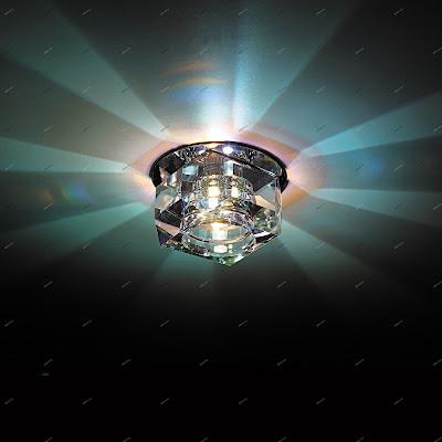 Натяжные потолки в Гулькевичи - светильники и люстры