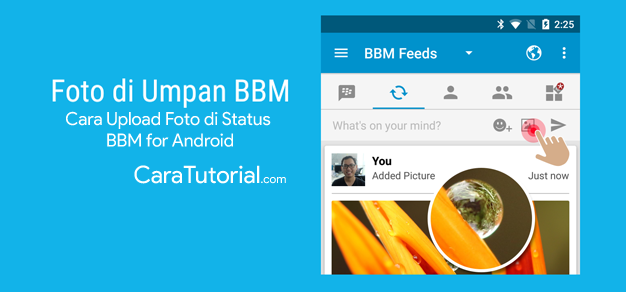 Cara Upload Gambar / Foto di Status BBM for Android