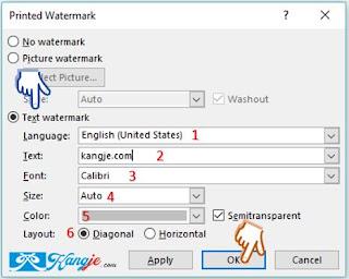 Langkah 4 Cara Menambahkan Ms Word Watermark Di Microsoft Office Word
