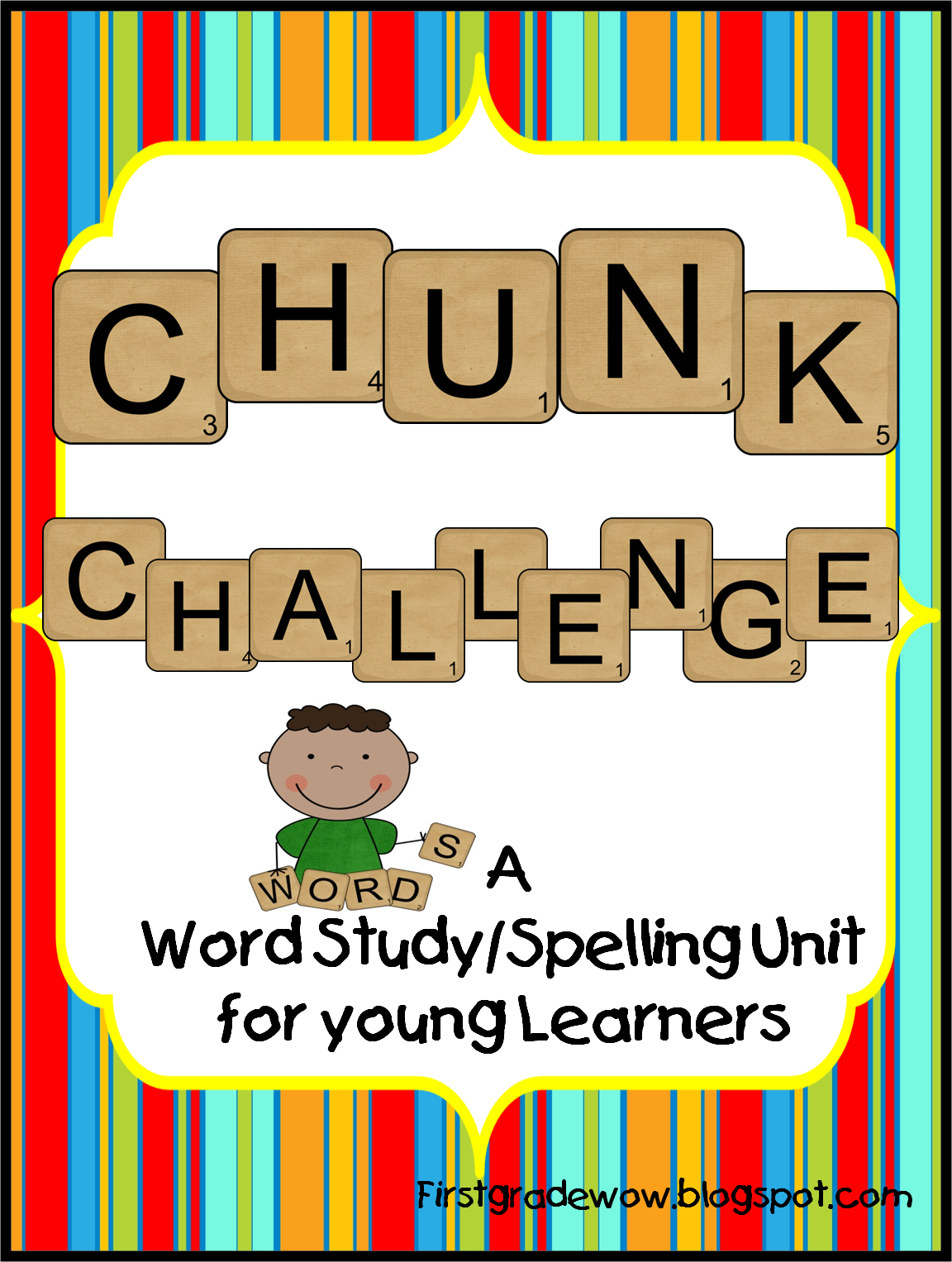 First Grade Wow Chunk Challenge Spelling Resource