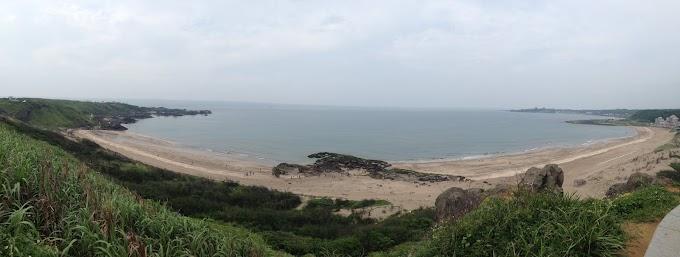 新北石門區 麟山鼻步道與白沙灣海岸線風景