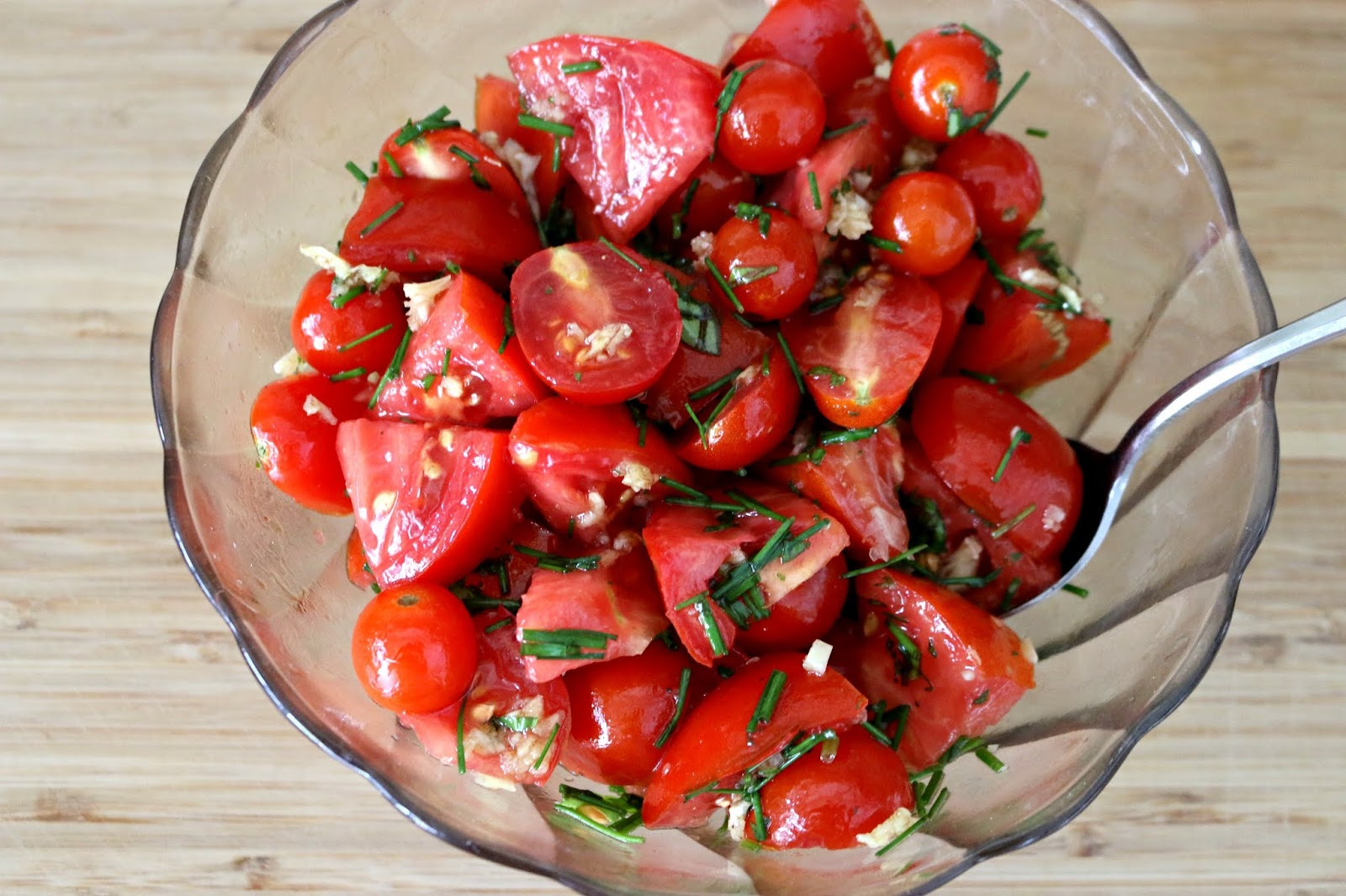 Vegan Garden Fresh Tomato Basil Salad Recipe