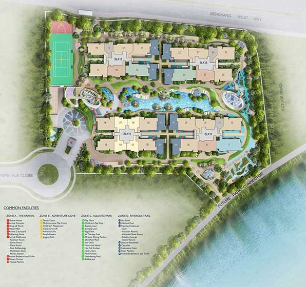 Riverbank @ Fernvale Site Plan