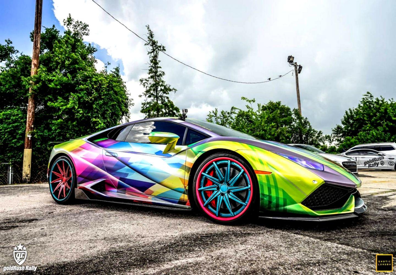 Lamborghini Aventador Art Car Rainbow Colors Wimwauman
