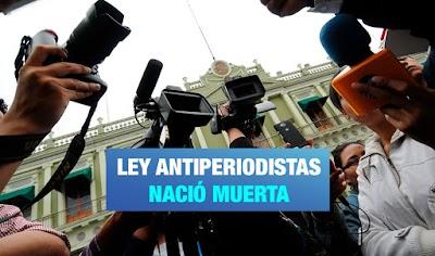 Congresista Fujimorista retira proyecto que obligaba a comunicadores tener colegiatura.