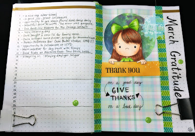 Tiddly Inks, Kecia Waters, Copic markers, gratitude, bullet journal, BuJu, gratitude journal