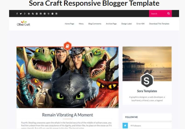 Sora Blogger Templates