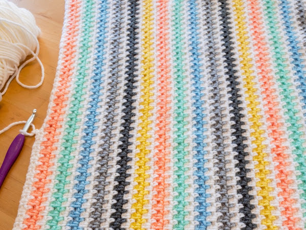 CROCHET: Moss Stitch Baby Blanket