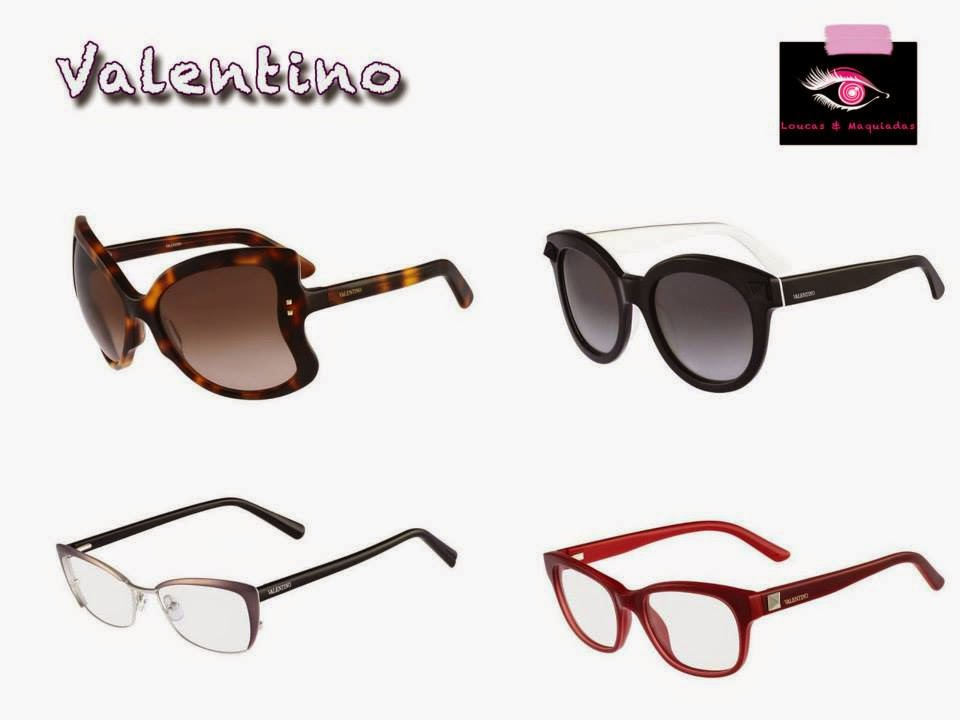 A nova coleção de óculos Valentino destaca-se pelo trabalho artesanal,  detalhista e luxuoso do designer. Os modelos outono inverno 2014 chamam a  atenção ... e43b65d62e