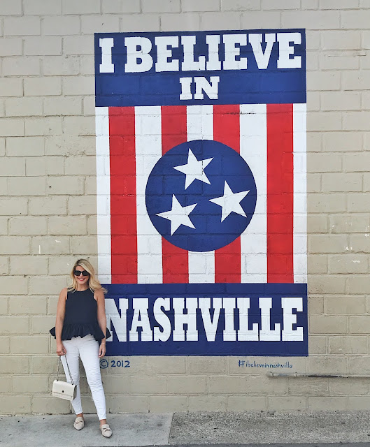 I believe in Nashville wall mural