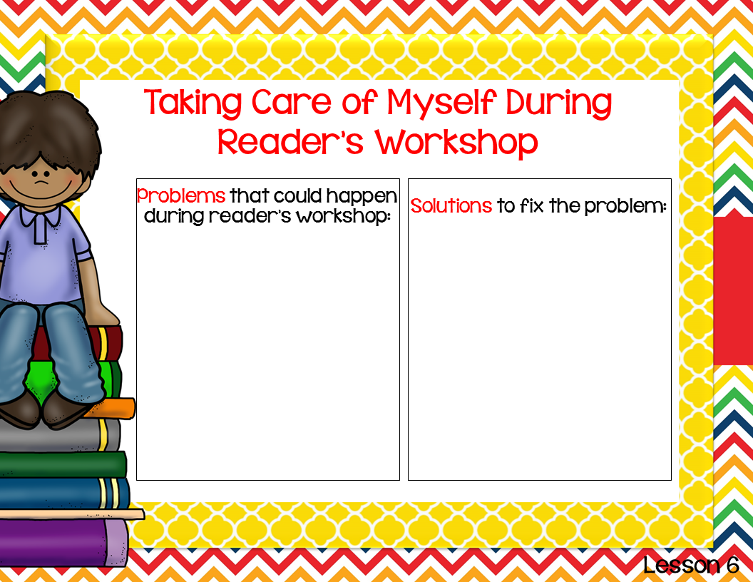Create a problems/solutions chart that students can refer to BEFORE interrupting overs during reader's workshop