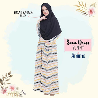 Gamis Amima Sava Dress Sunny