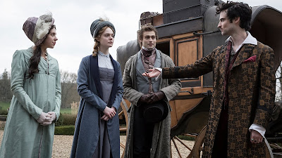 Tom Sturridge, Elle Fanning, Bel Powley and Douglas Booth in Mary Shelley