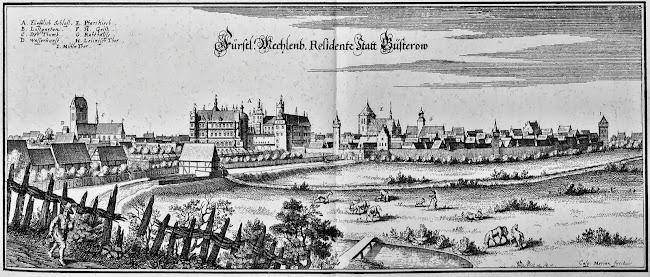 Matthäus Merian - Guestrow (c.1645)