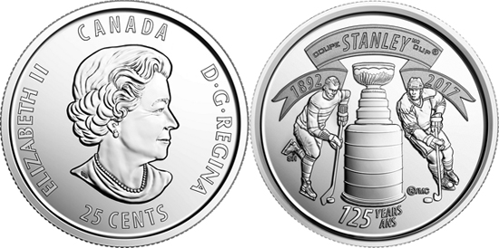 World Coin News Canada 25 Cents 2017 The Stanley Cup