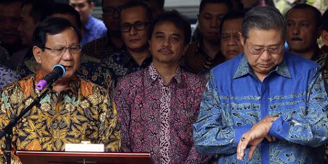 Dua Opsi Yang Ditawarkan SBY Yang Tak Digubris Prabowo