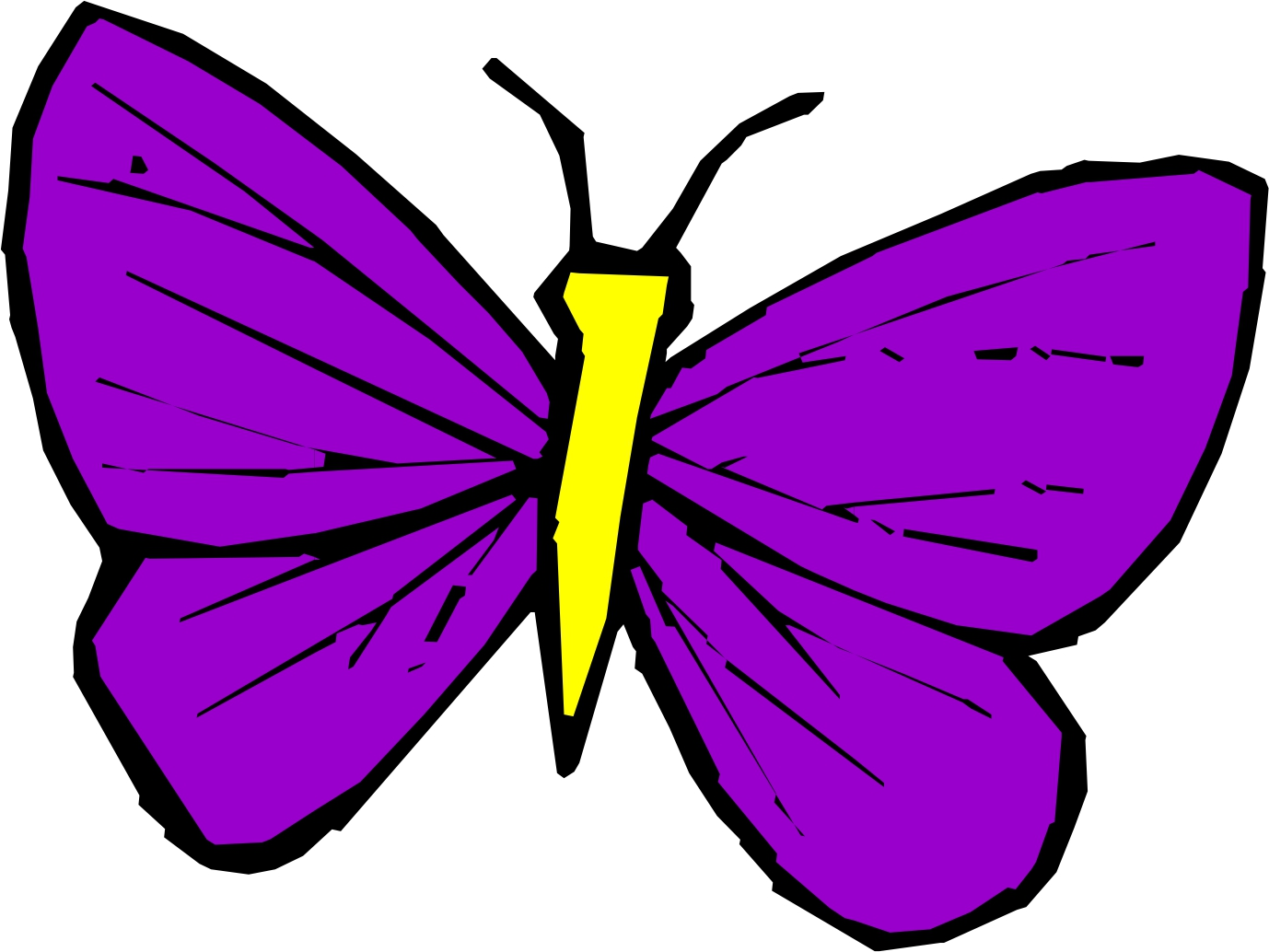 News Butterfly: Butterfly Cartoon