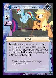 My Little Pony Sweep Sweep Sweep Defenders of Equestria CCG Card
