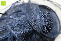 Blume: Valdler Damen Fascinator Hut Mini-Hut Feder Ineinander greifen Netz Fasching Haarschmuck