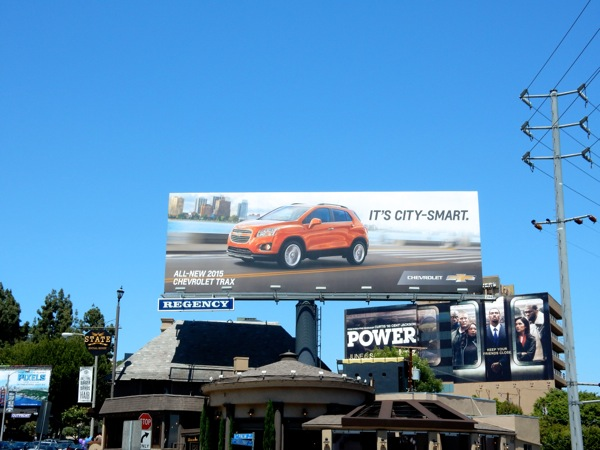 Chevrolet Trax city smart billboard