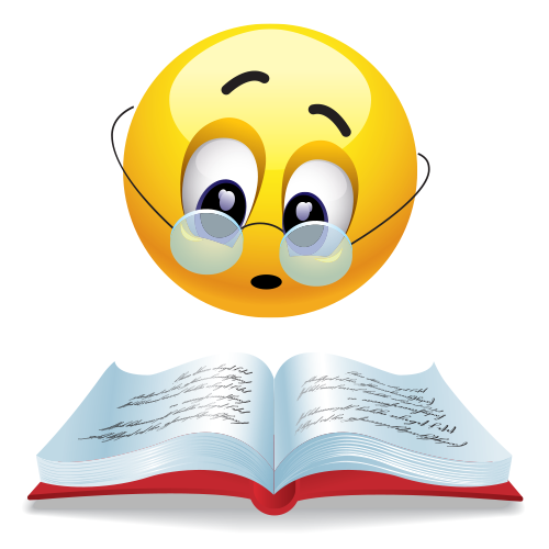 Bookish emoticon