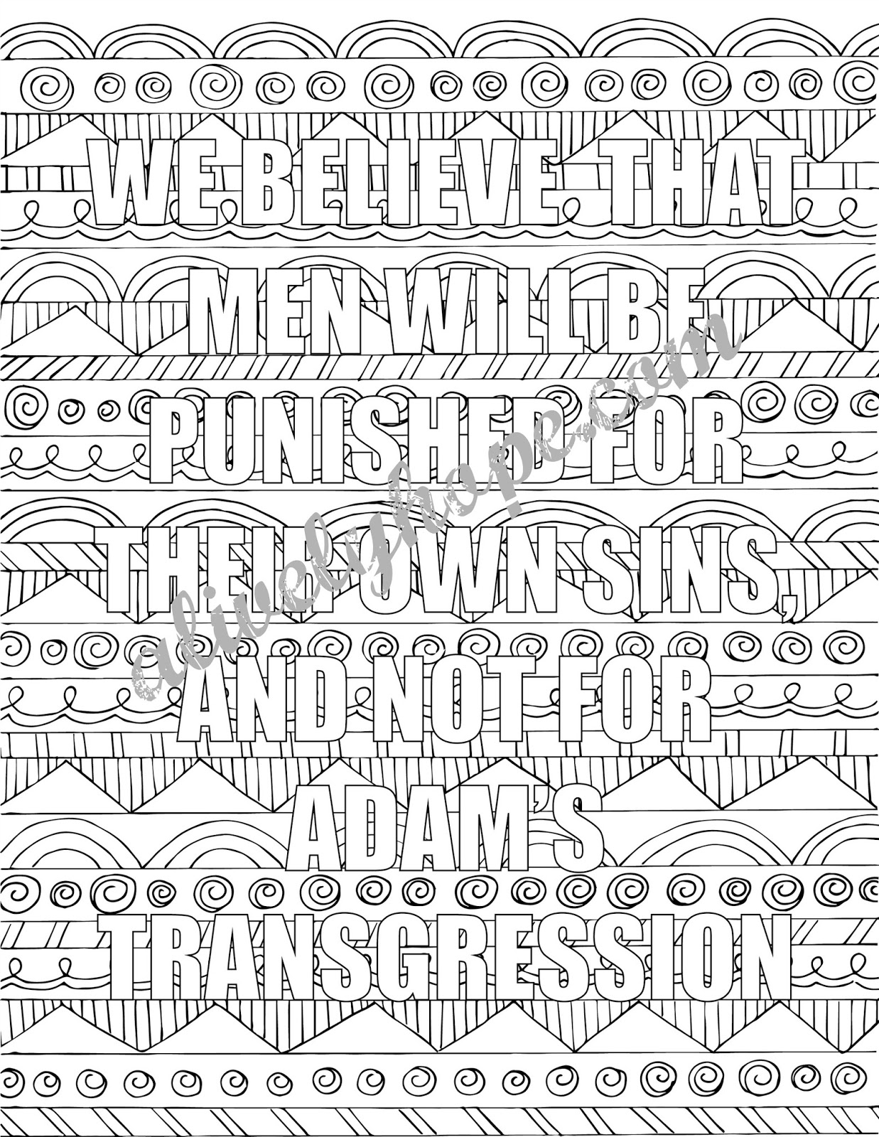 article of faith coloring pages - photo#20