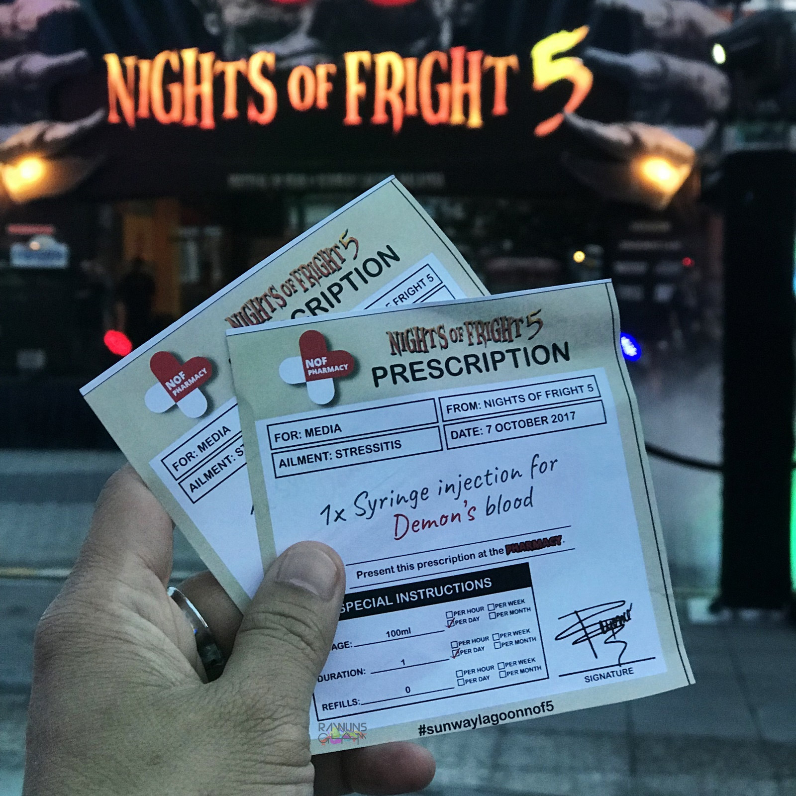 Sunway Lagoon, Sunway Lagoon Nights of Fright 5, Horror, Halloween, The Island of the Dolls, Ouija, Dystopia, Rawlins GLAM, Nights of The Undead Run