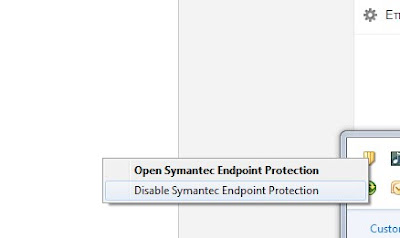 Disable Symantec Antivirus